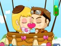 Игра Поцелуи на воздушном шаре