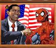 Игра Барак Обама и Человек Паук
