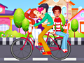 Игра Поцелуй на велосипеде