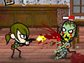 Игра Девочка против зомби