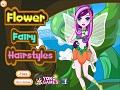 Игра Цветочная фея причёсок