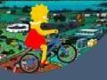 Игра Лиза Симпсон велосипед