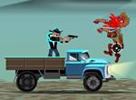 Игра Отстрел зомби с грузовика