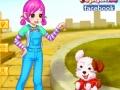 Игра Симпатичная девушка с щенком