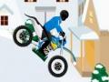 Игра Зимняя мотогонка