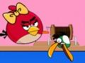 Игра Злые птицы на рыбалке Валентинов день