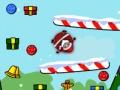 Игра Санта скользит по склонам на санях
