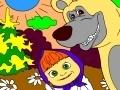 Игра Маша и медведь в лесу