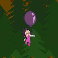 Игра Маша и медведь на воздушном шаре