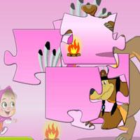 Игра Маша и медведь волшебный пазл
