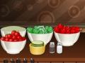 Игра Изысканный салат с томатами и огурцами