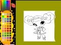 Игра Раскраска маленькая девочка