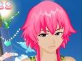 Игра Макияж девочки с розовыми волосами