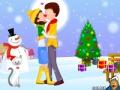 Игра Рождественская любовь: поцелуи