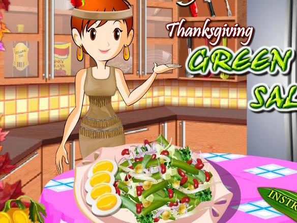 Игра Салат Зелёные бобы