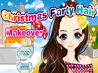 Игра Причёска на Рождественскую вечеринку